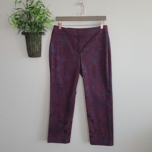 Ann Taylor Signature Straight Floral Ankle Pants 6
